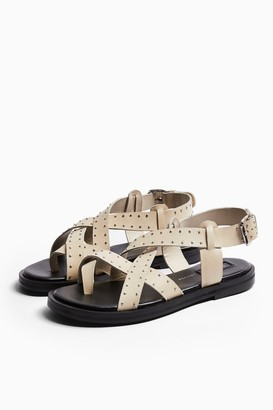 Topshop PAIGE Buttermilk Leather Sandals