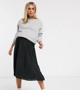Asos DESIGN Maternity under the bump pleated midi skirt