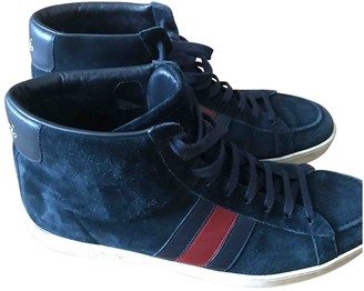 Gucci Blue Suede Trainers