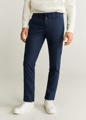 MANGO MAN - Zippers cotton jogger navy - 28 - Men