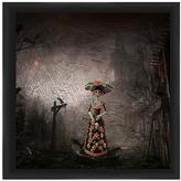 PTM Images Skeleton in Dress Framed Print