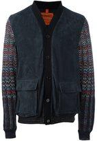 Missoni contrast sleeve padded jacket