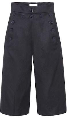 Chloé Wool and cotton culottes