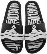 Vivienne Westwood X Melissa Slide Flip Flops Black
