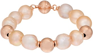 Honora Ming Cultured Pearl Magnetic Bracelet Sterling Silver