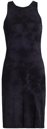 Raquel Allegra Tie-Dye Racerback Sheath Dress