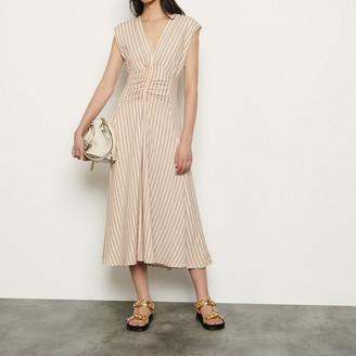 Sandro Long dress with stylish stripe pattern