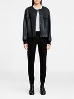 DKNY Pure Bonded Leather Bomber Jacket