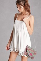 Forever 21 FOREVER 21+ Charade Embroidered Clutch