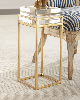 John-Richard Collection Carlyle Glass Block Side Table