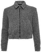 Topman DESIGN Grey Wool Harrington Jacket