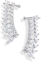 Nordstrom Fanned Marquise Climber Cuff Earrings