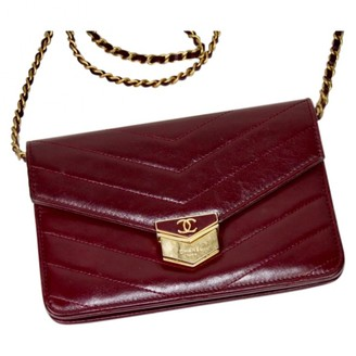 Chanel Wallet on Chain Burgundy Leather Handbags