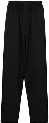 Y-3 Wide-Leg Drop-Crotch Trousers