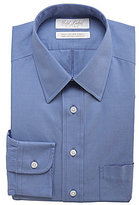 Roundtree & Yorke Gold Label Non-Iron Fitted Classic-Fit Point Collar Solid Dress Shirt