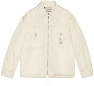 Gucci Nylon jacket with kitten embroidery