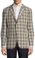 Hickey Freeman Button-Front Linen Jacket