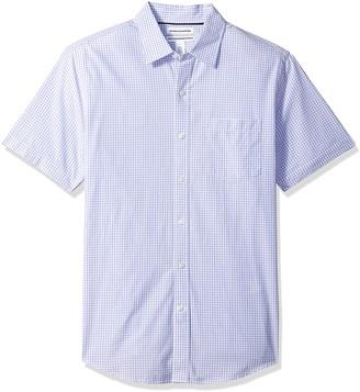 Amazon Essentials Men's Slim-Fit Short-Sleeve Casual Poplin Shirt