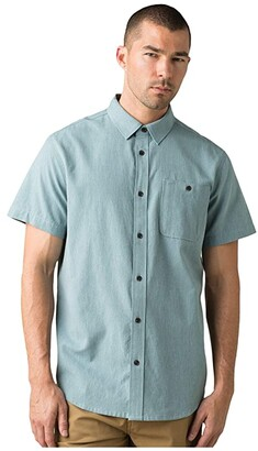 Prana Jaffra Short Sleeve Shirt (Breeze) Men's Short Sleeve Button Up