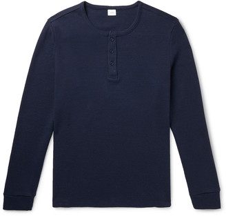 Onia Miles Waffle-Knit Cotton-Blend Henley T-Shirt