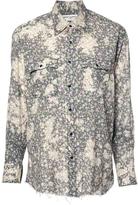 Saint Laurent Long Sleeve Floral Button Down
