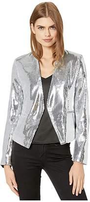 Blank NYC Sequin Open Blazer in Astrology (Silver) Women's Clothing