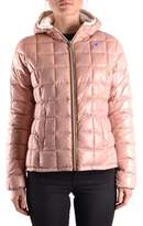K-Way Women's Pink Polyester Down Jacket.