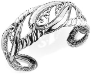Carolyn Pollack Filigree Openwork Cuff Bracelet in Sterling Silver