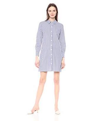 MSK Women's Long Sleeves Button Down Front Dress