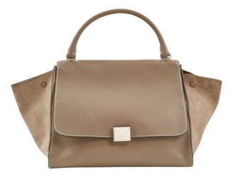 Celine Trapeze Grey Leather Handbags