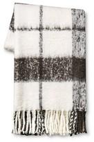 "Threshold Gray Faux Mohair Plaid Throw Blanket (50"" x 60"")"