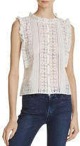 Rebecca Taylor Sheer Lace Top