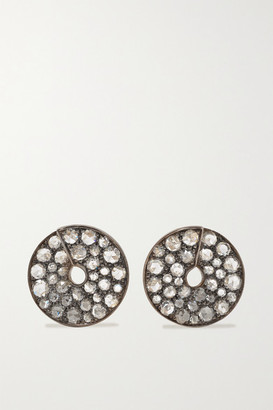 Fred Leighton Collection Silver-topped 18-karat Gold Diamond Earrings - one size