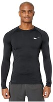Nike Top Long Sleeve Tight (Black/White) Men's Clothing