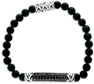 Effy Sterling Silver, Onyx & Black Spinel Bracelet