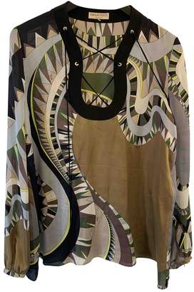Emilio Pucci Green Silk Top for Women