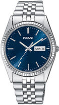 Pulsar Mens Stainless Steel Watch PXF303