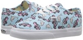 Vans Kids Authentic Crystal Blue/True White) Girls Shoes