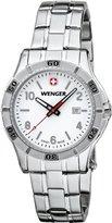 Wenger Platoon Womens White Dial, Stainless Steel Bracelet