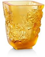 Lalique Pivoines Small Vase