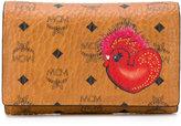 MCM rooster print wallet
