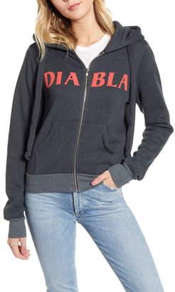 Wildfox Couture Diabla Carta Devil Zip Hoodie