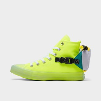 Converse Men's Chuck Taylor All Star Neon Jelly Buckle Up High Top Casual Shoes