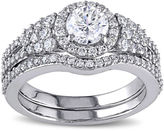 MODERN BRIDE 1 1/2 CT. T.W. Diamond 14K White Gold Ring Set