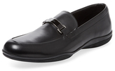 Prada Linea Rossa Horsebit Leather Loafer
