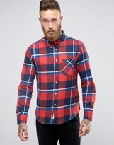 Lee Slim Check Flannel Shirt Red