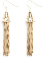 BaubleBar Gold Deco Tassel Earrings