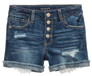 Imperial Star Big Girls Snap-Fly Denim Shorts