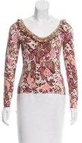 Blumarine Printed Embellished Top