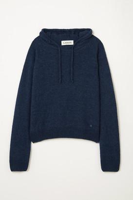 Lanvin Alpaca, Cashmere And Silk-blend Hoodie - Navy